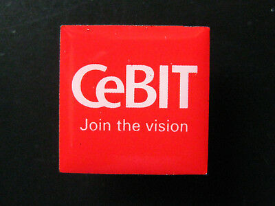 Pin Abzeichen CeBIT Join the vision - Computermesse Hannover (2)