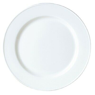 Steelite Simplicity White Slimline Plates 255mm (Pack of 24)