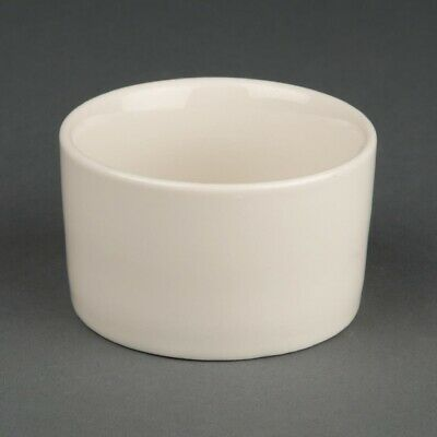 Olympia Ivory Contemporary Ramekins 80mm (Pack of 12) (Next working day to UK)