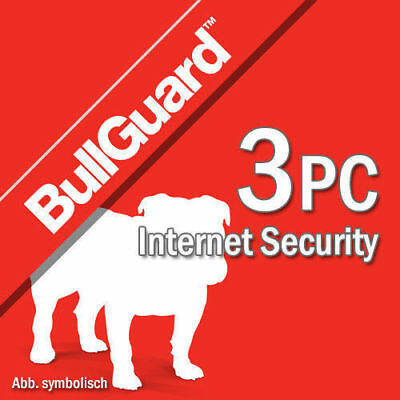 Bullguard Internet Security 2019 3 Appareils 3 Pc  1 an Antivirus 2018 BE EU