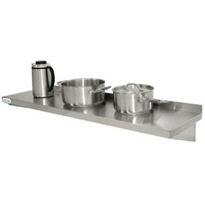 Vogue Stainless Steel Kitchen Shelf 1500mm (Next working day UK Delivery)