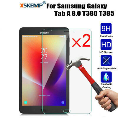 2pcs Tempered Glass Screen Protector For Samsung Galaxy Tab A 8.0 T380 T385 2017
