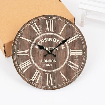 Shabby Retro Chic Time Wall Clock Room Decoration Kitchen