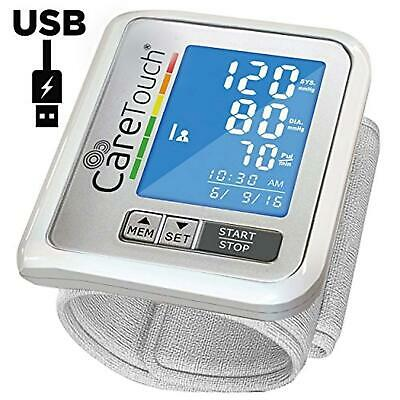 Care Touch Wrist Blood Pressure Monitor USB Charging Slim Digital BP Machine wit