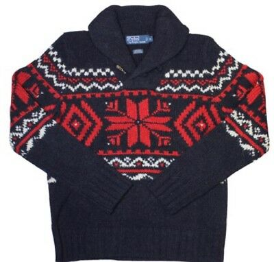 e30dd9dcc ... greece polo ralph lauren snowflake intarsia mens sweater xl new nwt red white  blue 49195 f7bee