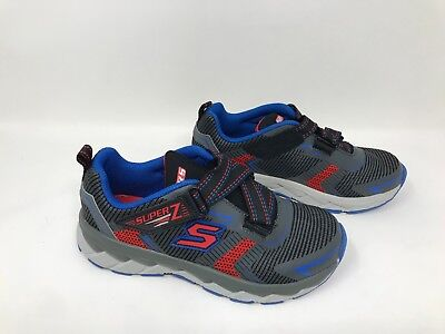 7584b972208b New! Boys (Youth) Skechers 95970L Zipperz Z Strap Sneakers- SIZE 2 Gray