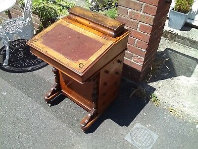Antique Victorian walnut Davenport writing desk