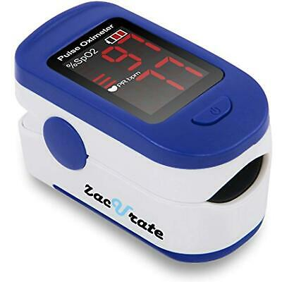 Zacurate 500BL Fingertip Pulse Oximeter Blood Oxygen Saturation Monitor with Bat