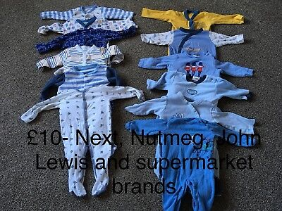 Bundle Of 6-9 Months Baby Grows- Boys