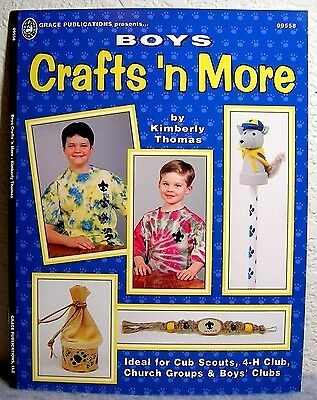 """Boys Crafts 'n more"" Book - Kids' Craft Projects: Scouts, Clubs, School, Camps+"