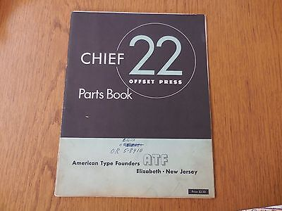 Chief 22 Offset Press Parts Manual