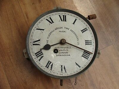 gledhill brook clock movement and face  for SPARES/REPAIR
