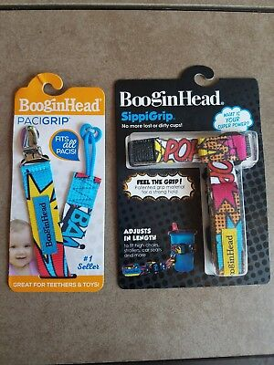 BooginHead Paci Grip And Sippi Grip - For Pacifier And Sippi Cup - Superhero