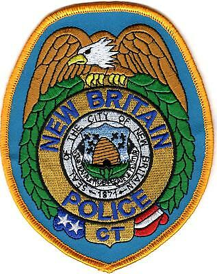 New Britain golden border Police Patch Connecticut CT NEW !!!