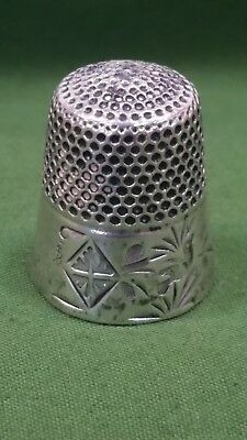 Antique Stern Brothers New York Sterling Silver Thimble - Sz 9