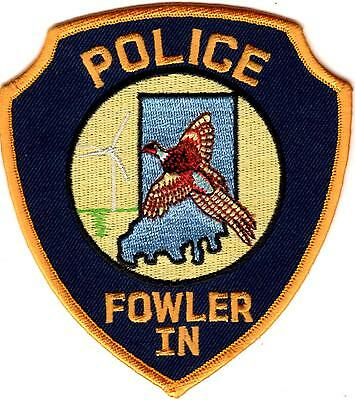 Fowler Police Patch Indiana IN NEW