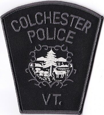 Colchester Police Vermont subdued patch NEW