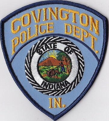 Covington Police Dept. Police patch Indiana IN NEW