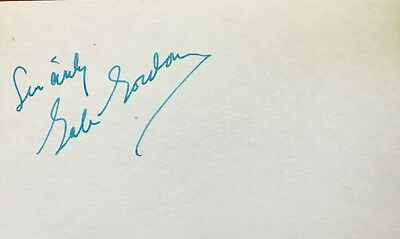 Vintage Gale Gordon Signed Index Card- The Lucy Show