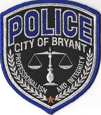 City of Bryant Police Patch Arkansas AR NEW!!