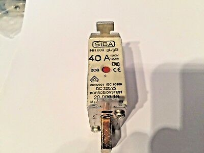 Siba Blade Fuses NH00 gL/gG Combination Indicator Various Ratings see menu 1off