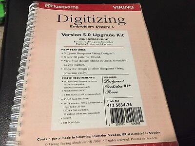 Husqvarna Viking Digitizing Embroidery System 5 Version 5.0 Upgrade Kit Designer