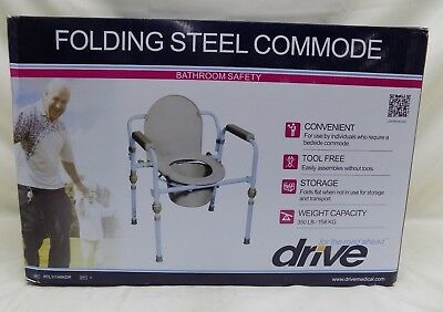 Drive Medical, RTL11148KDR Folding Steel Commode