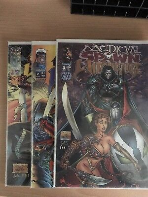 Medieval Spawn Witchblade #1-3 Complete Set Image Comics