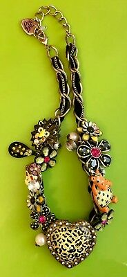 Betsey Johnson Vintage Jungle Book Collection Charm Necklace
