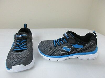 New Boy's Skechers Advance HyperLoop Athletic Shoes 95315L Gry/Black 57G and 9T