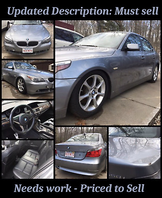 2007 BMW 5-Series Sports Package Great Project Car - 2007 BMW 550i - needs engine work or replacement