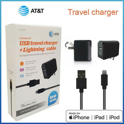 Original AT&T Apple Wall charger for iPhone X  8 7 /Plus Lightning Sync Cable