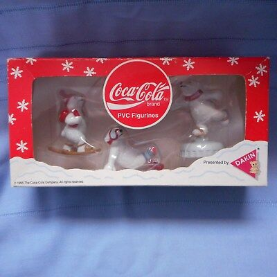 NEW Coca-Cola Polar Bear PVC Figurines from Dakin