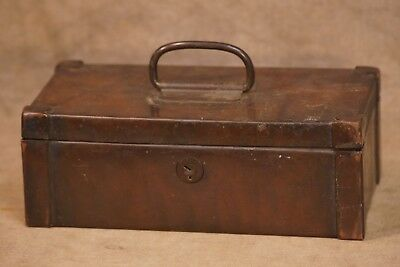 Antique Copper Cash Money Strong Box, Heavy