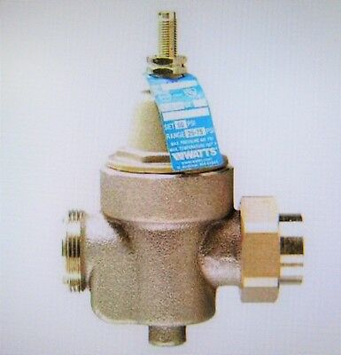 "WATTS Regulator 1"" LFN55BM1-U Water Pressure Reducing Valve,4-7/8 in"