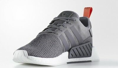 half off b84ed cad48 Adidas NMD R2 Men s Size U.S. 10.5 Future Harvest Grey   Orange (Lightly  Used!