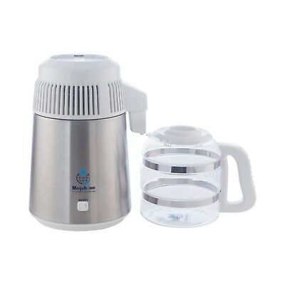 Heavy Duty 316 Megahome Stainless Steel White Water Distiller With Glass Carafe