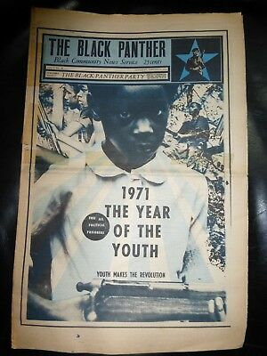 ORIGINAL RARE VINTAGE BLACK PANTHER PARTY NEWSPAPER - Vol. 5- #27, Jan 2, 1971