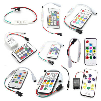 DC5V-24V WS2811 WS2812B 2801 LED Pixel Controller Remote For RGB LED Strip Light