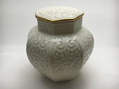 Lenox China Arabesque Ginger Jar with Lid Made in USA - Vintage