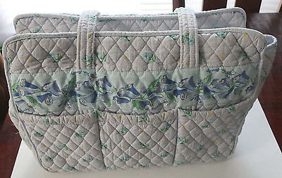 Vera Bradley Retired Watercolor Large Baby Diaper Bag Vintage Tote Rare Guc
