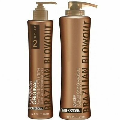 Brazilian Blowout Solution Step 2 12oz & Deep Conditioning Masque Step 3 24oz
