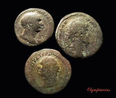 LOT OF 3 ** BIG **  ROMAN Bronze COINS
