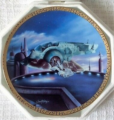 The Hamilton Collection Star Wars Space Vehicles Slave I Plate #0094A