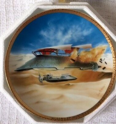 The Hamilton Collection Star Wars Space Vehicles Jabba'S Sail Barge Plate #1844A