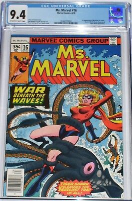 Ms Marvel #16 CGC graded 9.4 from April 1978 1st appearance of Mystique in cameo