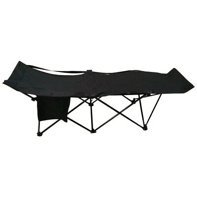 ALEKO Portable Collapsible Camping Bed with Side Storage Bag Black