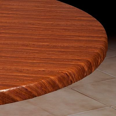 Vinyl Fitted Table Cover WOODGRAIN Square SM MED LG Round Oval Oblong ~