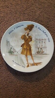 D'Arceau Limoges  Women of the Century Collector Plate 1978