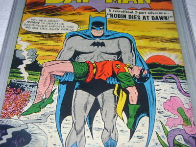Dc Batman 156 Pgx 7.5 White Pages Not Cgc Robin Dies At Dawn! Great Cover!